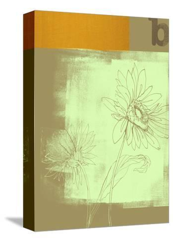 Letter B and Two Flowers--Stretched Canvas Print