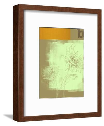 Letter B and Two Flowers--Framed Art Print