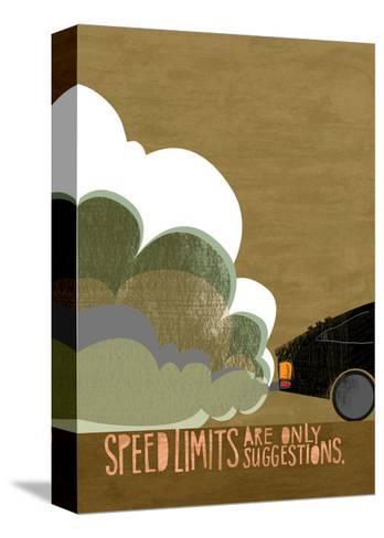 Speeding Car--Stretched Canvas Print