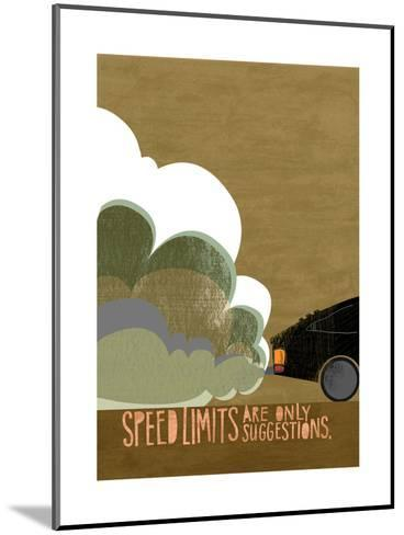 Speeding Car--Mounted Art Print