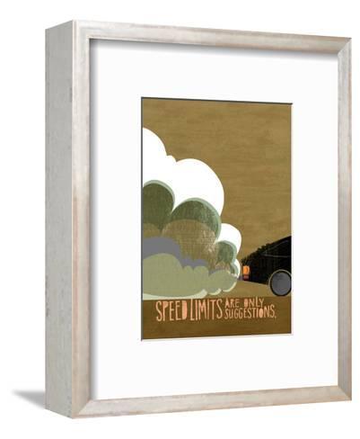 Speeding Car--Framed Art Print