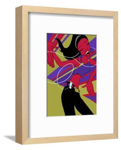 Girl Dancing--Framed Art Print