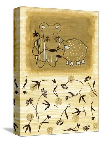 Bear Shepherd and Lamb--Stretched Canvas Print