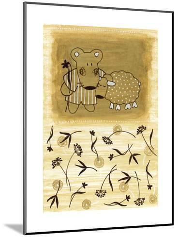 Bear Shepherd and Lamb--Mounted Art Print