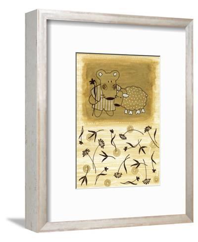 Bear Shepherd and Lamb--Framed Art Print