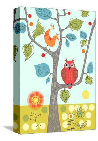 Owl in Tree--Stretched Canvas Print