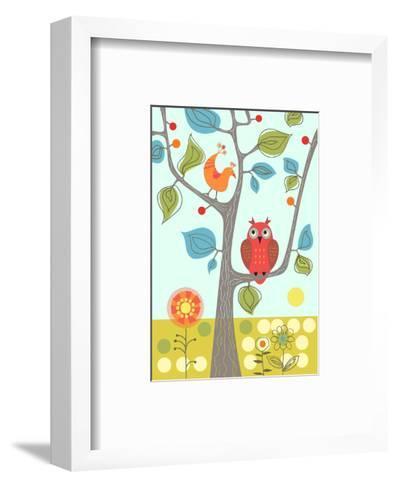 Owl in Tree--Framed Art Print