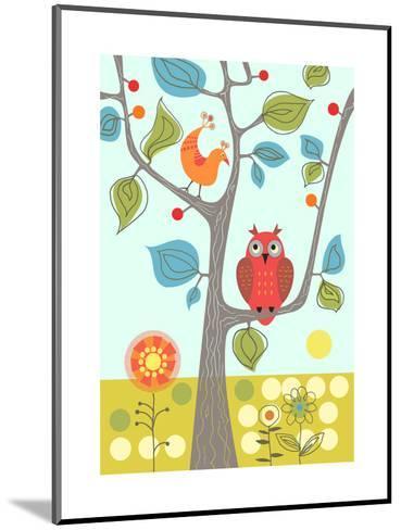 Owl in Tree--Mounted Art Print