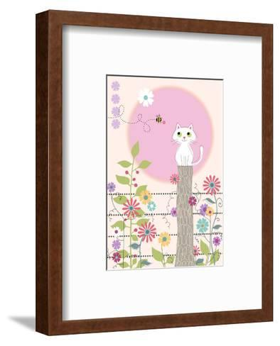 Bee and Kitty--Framed Art Print