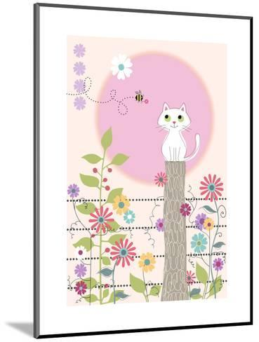 Bee and Kitty--Mounted Art Print