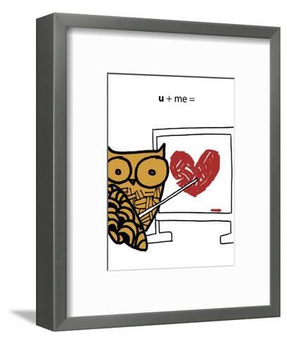 Love Owl--Framed Art Print