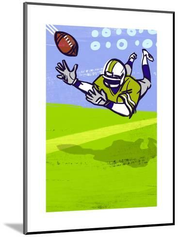 Diving to Catch Football--Mounted Art Print
