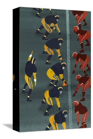 Quarterback in Football Game--Stretched Canvas Print