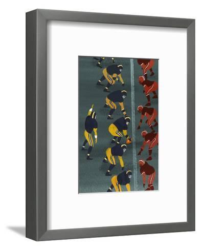 Quarterback in Football Game--Framed Art Print