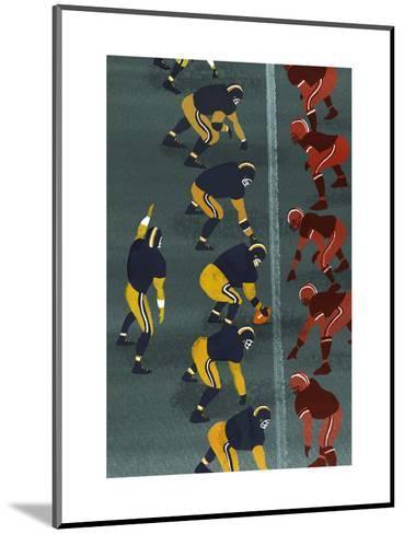 Quarterback in Football Game--Mounted Art Print