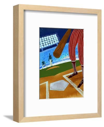 Batter up Baseball--Framed Art Print
