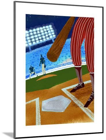 Batter up Baseball--Mounted Art Print