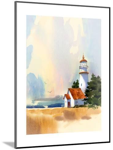Lighthouse--Mounted Art Print