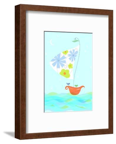 Bird in Sailboat--Framed Art Print
