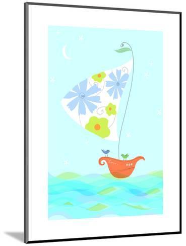 Bird in Sailboat--Mounted Art Print