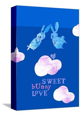 Sweet Bunny Love--Stretched Canvas Print