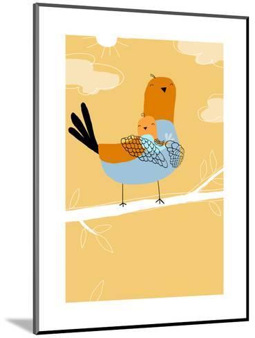 Pigeon Bird Family--Mounted Art Print