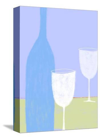 Wine Still Life--Stretched Canvas Print