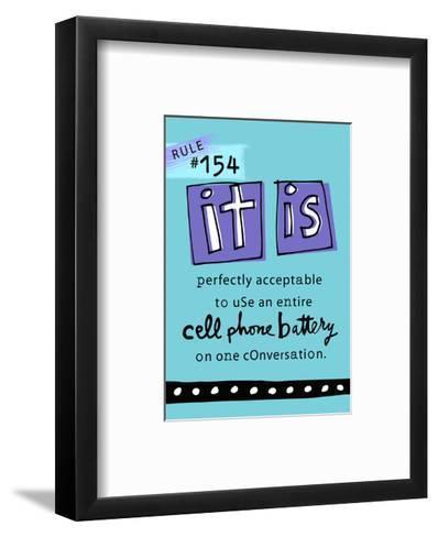 Cell Phone Rule--Framed Art Print