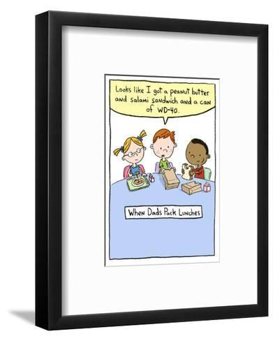 When Dads Pack Lunch--Framed Art Print