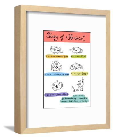 Diary of a Housecat--Framed Art Print