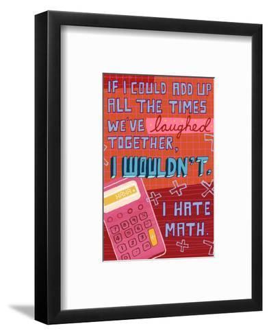 I Hate Math--Framed Art Print