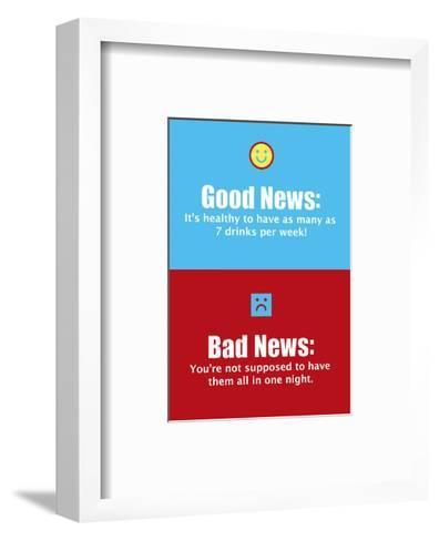 Good News, Bad News--Framed Art Print