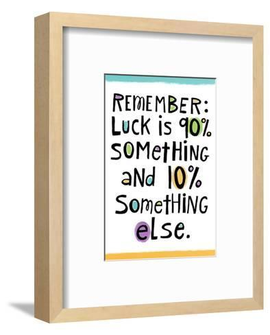 Luck--Framed Art Print