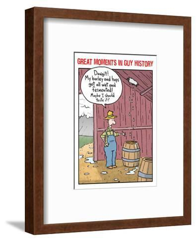 Guy History: Beer--Framed Art Print