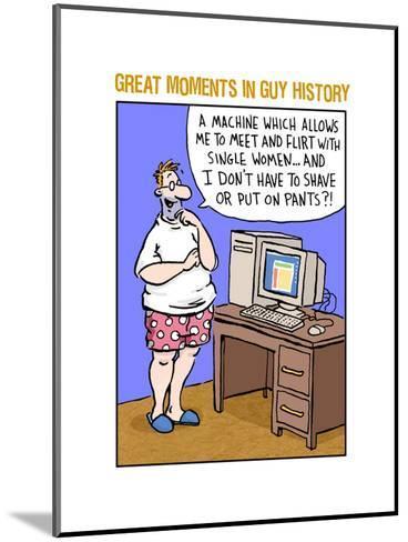 Guy History: Computer--Mounted Art Print