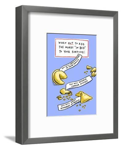 Not in Bed--Framed Art Print