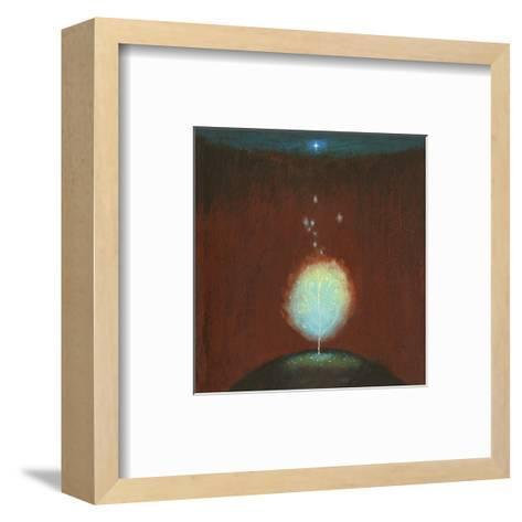 Burning Bush under Star--Framed Art Print