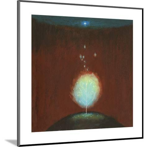 Burning Bush under Star--Mounted Art Print