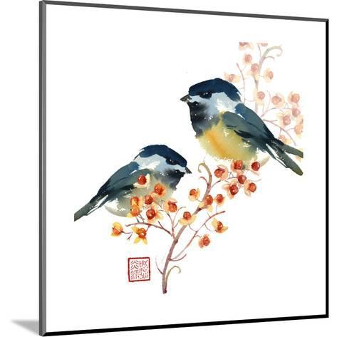Two Birds on a Branch--Mounted Art Print