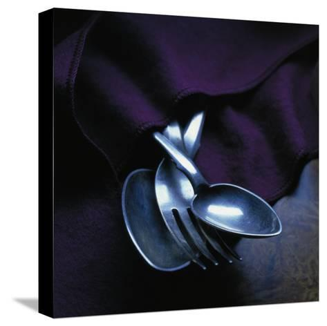 Spoons and Forks--Stretched Canvas Print