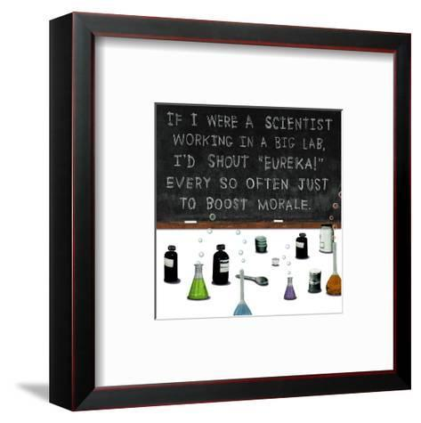 If I Were a Scientist--Framed Art Print