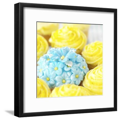 Decorated Floral Cupcake--Framed Art Print