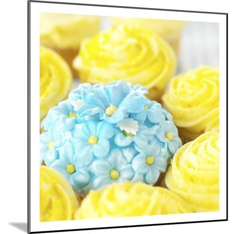 Decorated Floral Cupcake--Mounted Photo