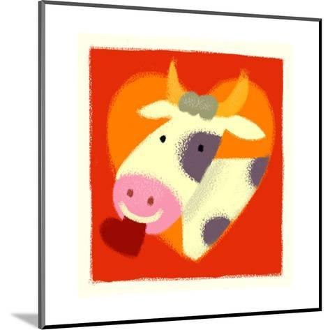 Cow with Heart--Mounted Art Print