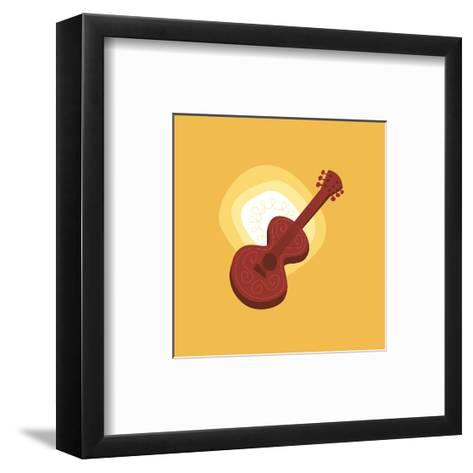 Graphic Guitar--Framed Art Print