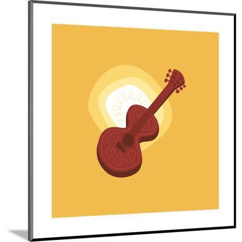 Graphic Guitar--Mounted Art Print