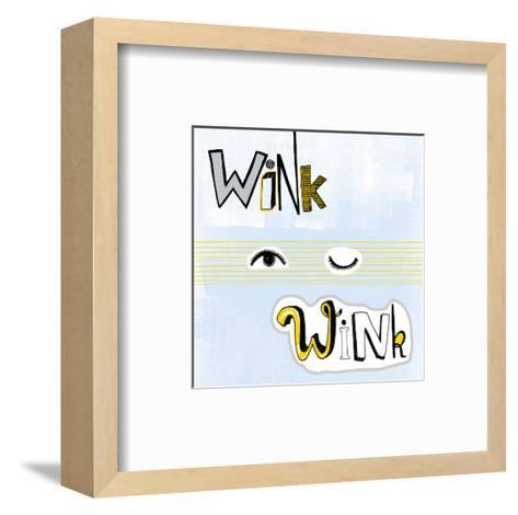 Wink Wink--Framed Art Print