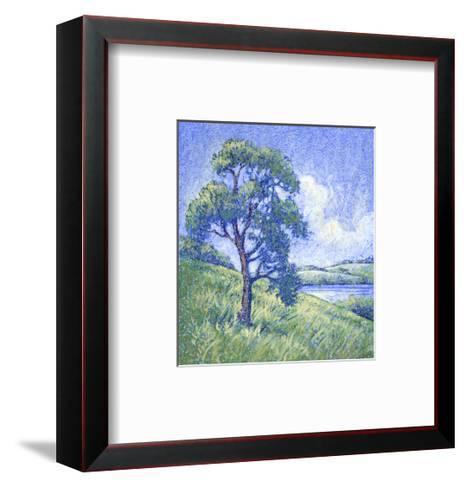 Tree by the Lake--Framed Art Print