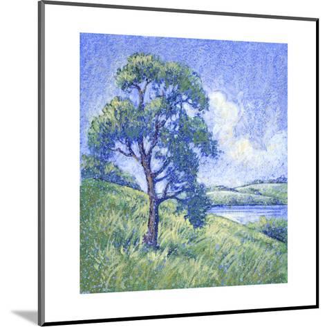 Tree by the Lake--Mounted Art Print