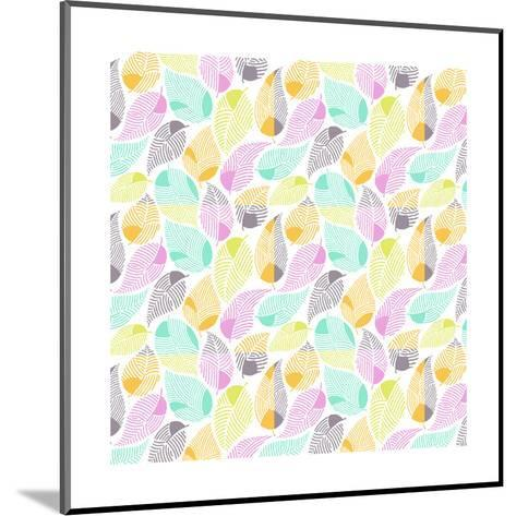 Bright Colored Leaf Pattern--Mounted Art Print